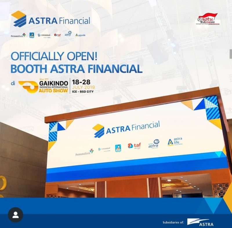 Astra Financial Sponsor Platinum di GIIAS 2019